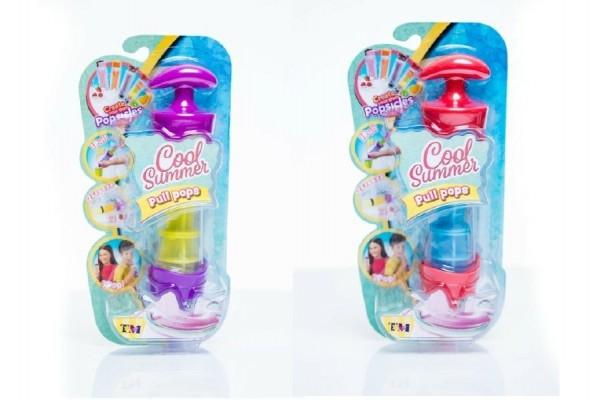 Teddies Tvorítko / tuba na zmrzlinu Pull Pops plast 20cm asst 4 farby na karte