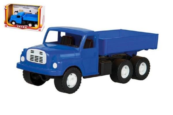 Teddies Auto nákladné Tatra 148 valník plast 30cm modrá v krabici 35x18x13cm