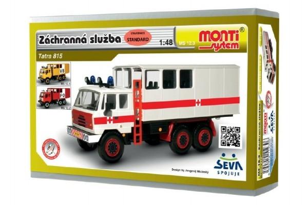 Teddies Stavebnica Monti 123 Tatra 815 Záchranná služba 1:48 v krabici 22x15x6cm