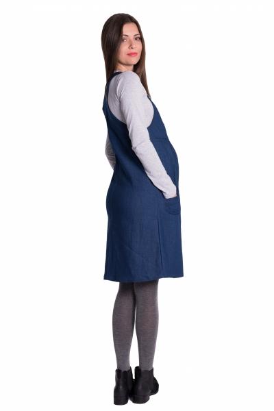 Tehotenské šaty - jeans veľ.  XL