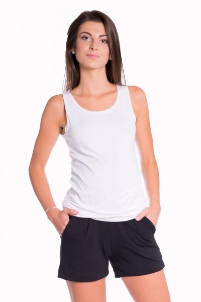 Tehotenské, bavlnené kraťasy s odpárateľným pásom - čierne, vel´. L-L (40)