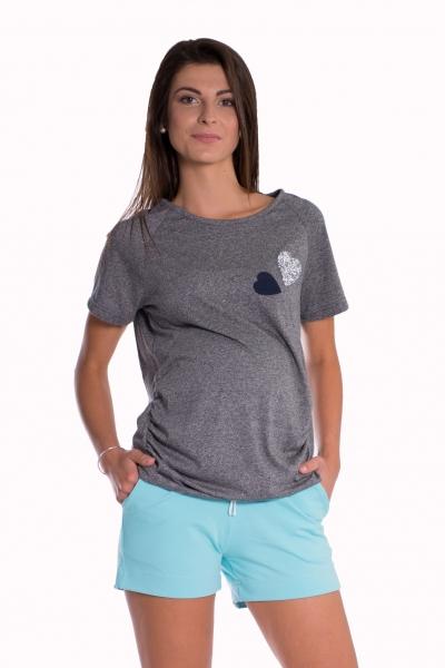 Tehotenské, bavlnené kraťasy s odpárateľným pásom - mäta, vel. L-L (40)