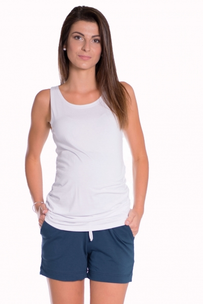 Tehotenské, bavlnené kraťasy s odpárateľným pásom - navy, vel´. L-L (40)
