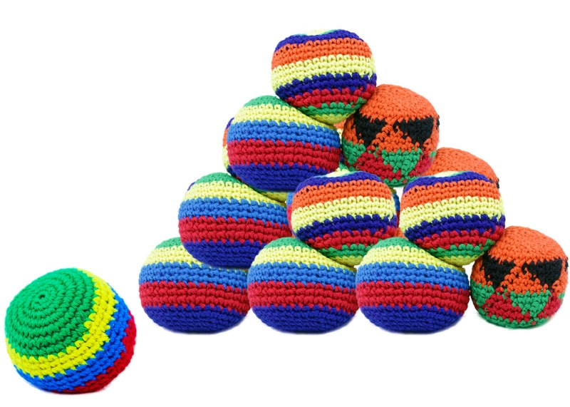 Rappa Loptička hekísek - Footbag farebný