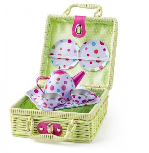 Piknikový košík s čajovým servisom