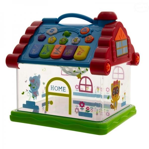 Euro Baby Interaktívna hračka s melódiou - Domček