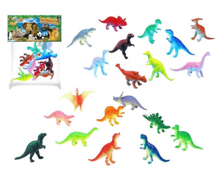 Rappa Dinosaury 10 ks v sáčku, 2 druhy