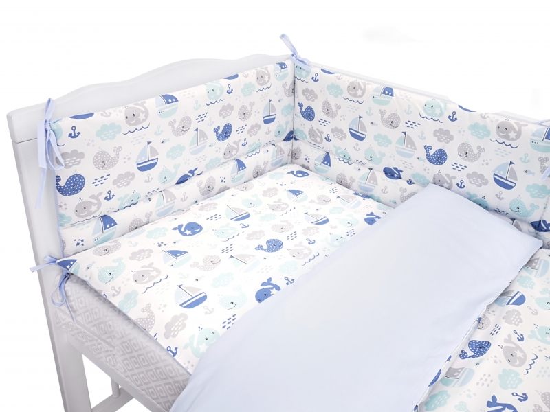 Baby Nellys 2-dielne bavlnené obliečky Oceán Baby 135 x100cm - modré