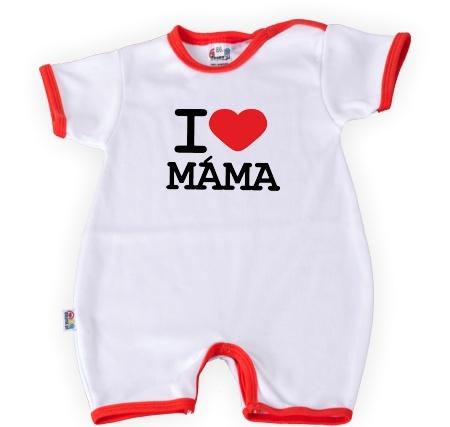 DEJNA Body Kr. rukáv s nohavičkama I Love Mama, vel´. 86, K19