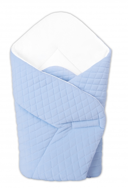 Novorodenecká zavinovačka Velvet lux Miminu prešívaná - modrá
