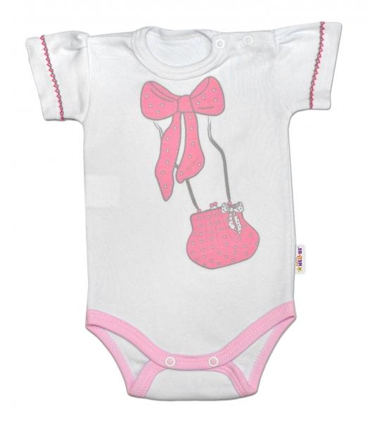Baby Nellys Body krátký rukáv Celebrity Girl - růžové, veľ. 86