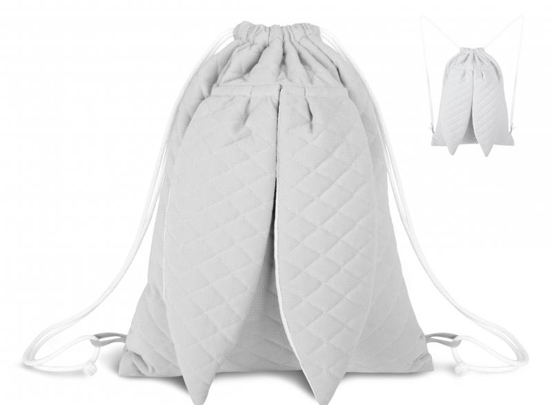 Štýlový detský batôžtek Velvet lux mimino prešívaný - šedý