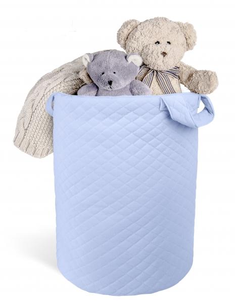 Box na hračky Velvet lux miminu, prešívaný - modrý