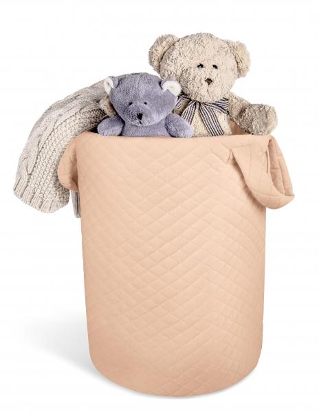 Box na hračky Velvet lux miminu, prešívaný - Marhuľová