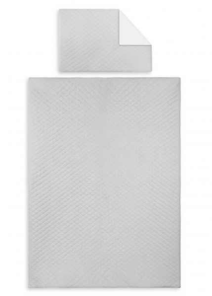 2-dielne obliečky Velvet lux Miminu, prešívané - šedý, 120x90 cm