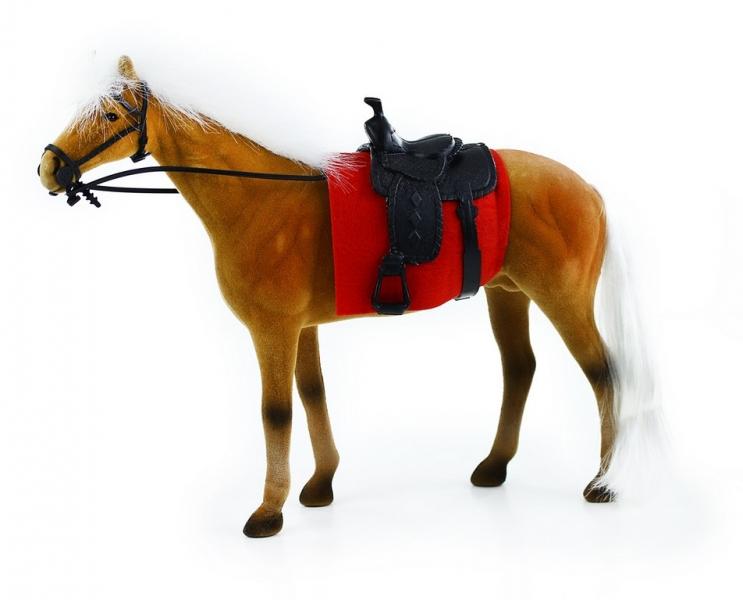 Rappa Kôň flíska 32 cm hnedo biely