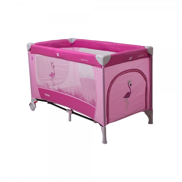 Coto Baby Cestovná postieľka Samba Plus - ružová