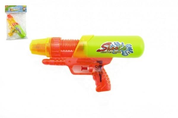 Teddies Vodné pištole plast 24 cm asst 2 farby v sáčku