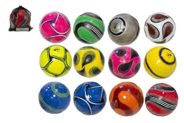 Teddies Lopta futbalová s pumpičkou 22cm Dunlop vel. 5 šitý asst mix farieb v sieťke