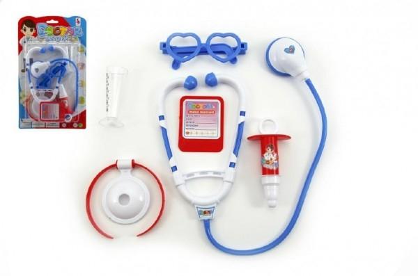 Teddies Sada doktor sa stetoskopom plast na karte 19x32x3,5cm