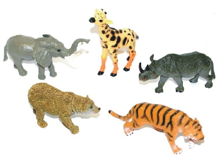Rappa Zvieratá divoká väčší, 5 ks v sáčku