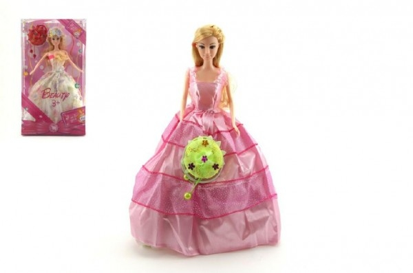 Teddies Bábika Princezná kĺbová s doplnkami 30cm pohyblivé ruky asst 2 druhy v krabici