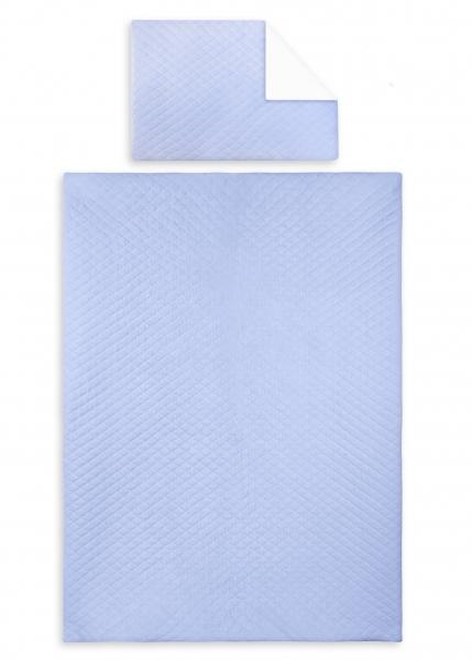 2-dielne obliečky Velvet lux Miminu, prešívané - modrý, 120x90 cm