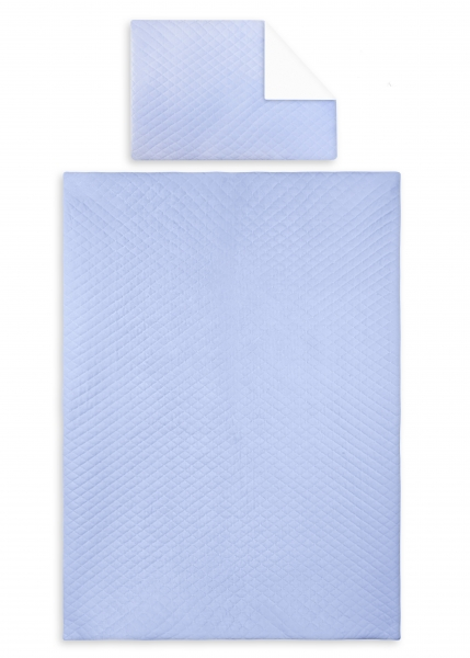 2-dielne obliečky Velvet lux Miminu, prešívané - modrý, 135x100 cm