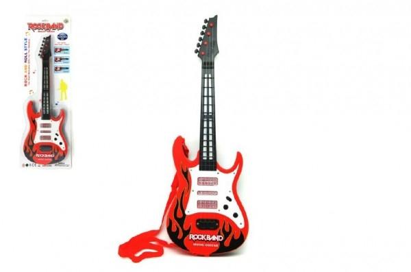 Teddies Gitara plast 54cm na batérie so zvukom so svetlom na karte