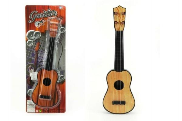 Gitara plast 40cm asst 2 farby na karte