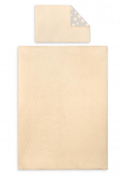 2-dielne obliečky Velvet lux Miminu, prešívané - marhuľový, 120x90 cm
