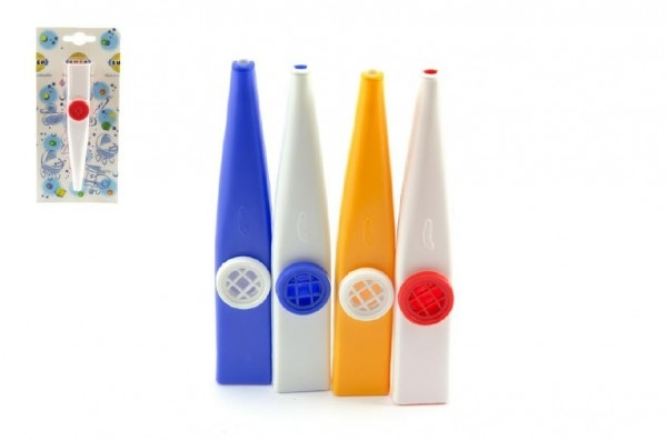 Teddies Kazoo plast 12cm asst 4 farby na karte