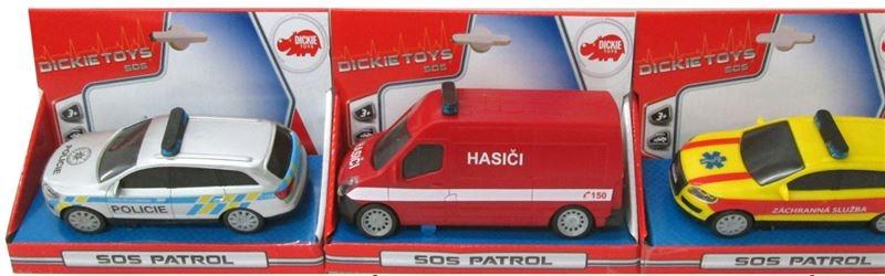 Simba Auto SOS 14 cm, česká verzia, 3 druhy