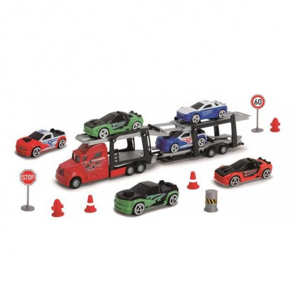 SIMBA Autotransporter + 6 autíčok s príslušenstvom
