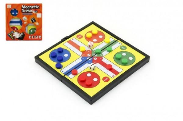 Teddies Magnetické Človeče, nehnevaj sa malé spoločenská hra v krabičke 13x13x1,5cm