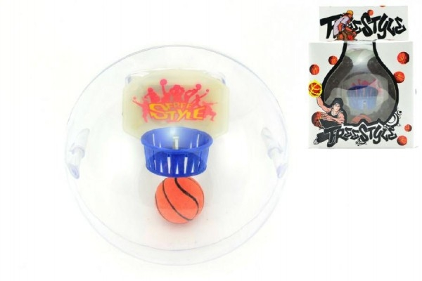 Basketbal hlavolam plast 10cm so zvukom na batérie v krabičke