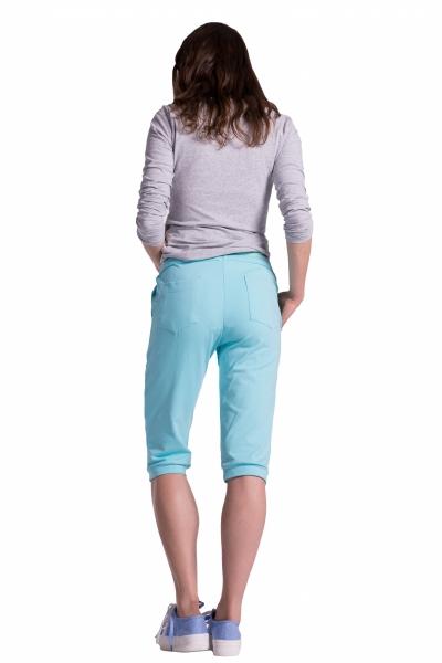Moderné tehotenské 3/4 nohavice s vreckami - čierne