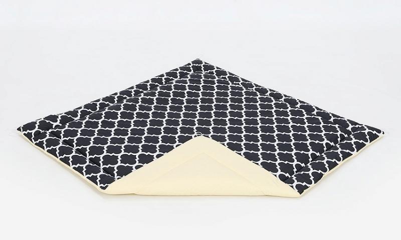 Podložka do stanu pre deti teepee, típí - citrónová / maroko čierne