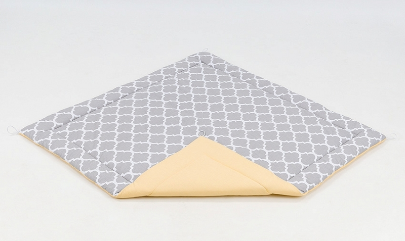 Podložka do stanu pre deti teepee, típí - maroko sivé / žltá