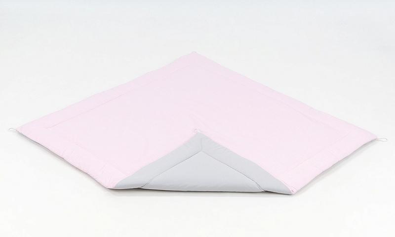 Podložka do stanu pre deti teepee, típí - sivá / svetlo ružová
