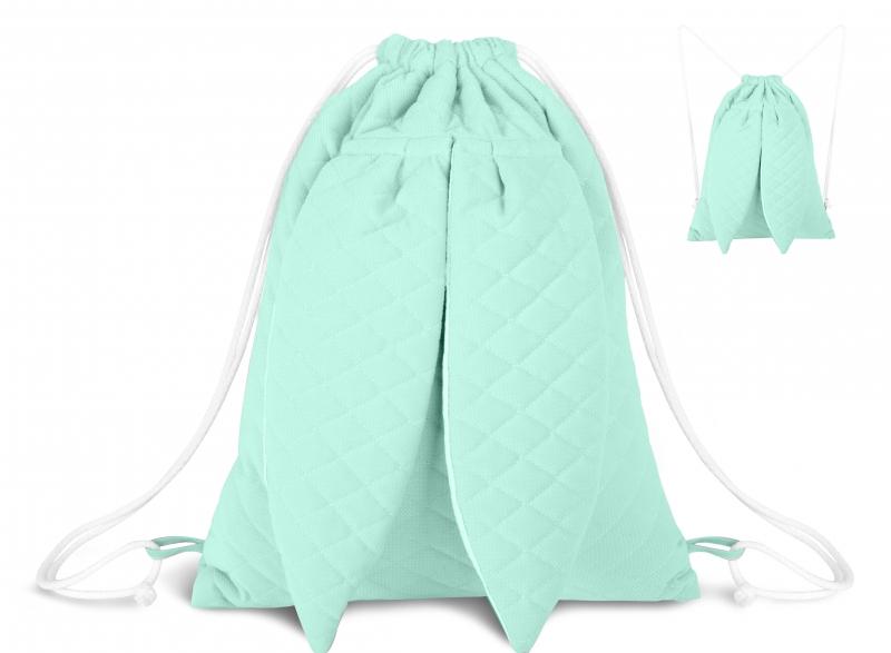 Štýlový detský batôžtek Velvet lux mimino prešívaný - matový