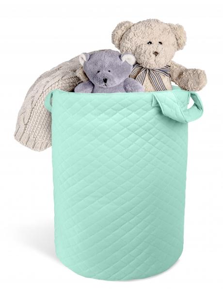 Box na hračky Velvet lux miminu, prešívaný - Mätová
