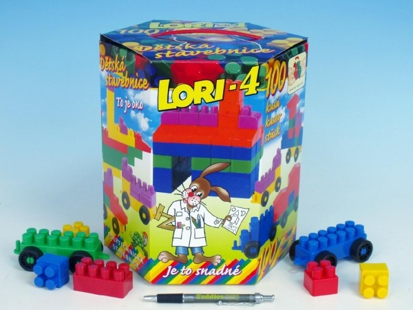 Teddies Stavebnica LORI 4 plast 100ks v krabici 23x25x20cm