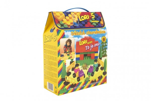 Teddies Stavebnica LORI 5 plast 76ks v krabici 23x28x10cm