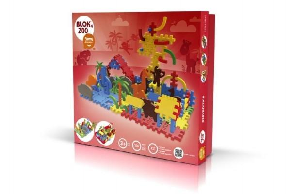 Teddies Stavebnica Blok 4 ZOO plast 235ks v krabici 35x33x10cm