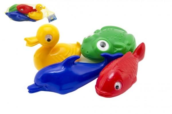 Teddies Plávacie sada zvieratka plast 4ks v sieťke 20x14x7cm 12m +