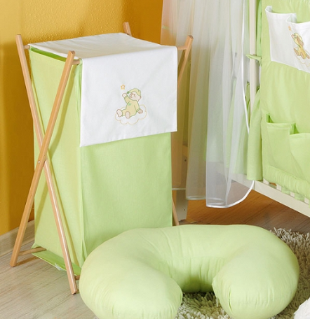 Luxusné praktický kôš na bielizeň - MRÁČIK zelený
