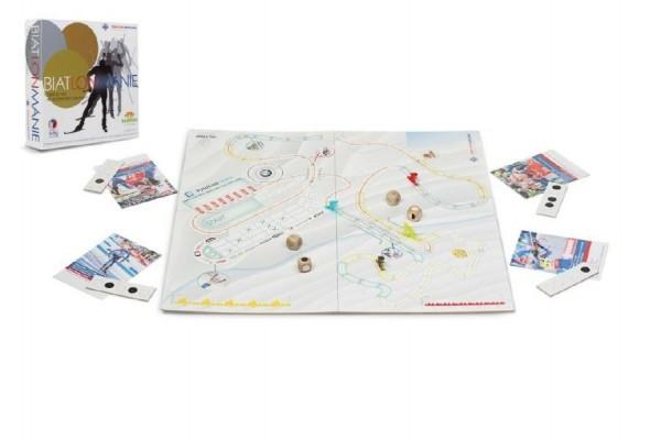 Biatlonmánie spoločenská hra v krabici 29x35x7,5cm