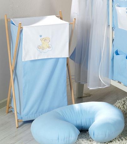 Luxusné praktický kôš na bielizeň - MRÁČIK modrý