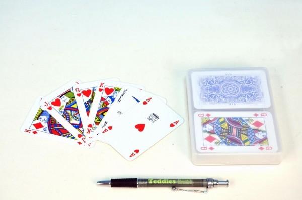 Teddies Canasta spoločenská hra karty v plastovej krabičke 13x10cm
